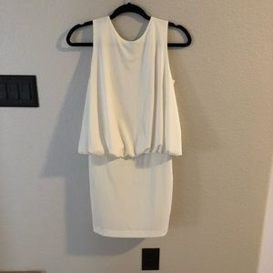 NWT Solid white backless dress